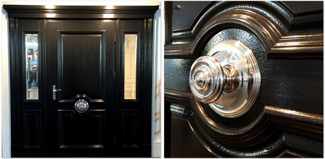 Wooden front door (fitted doors) – bespoke oak exterior door - made doors UK from double, traditional, French and other doors manufacturer