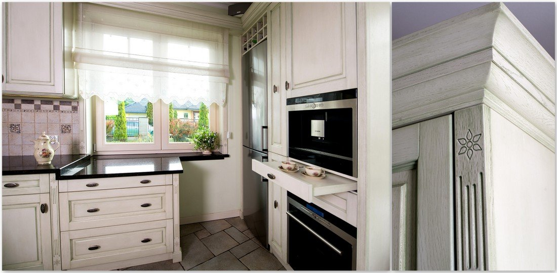 Wooden fully fitted kitchen furniture - timber Provencal kitchens, wooden windows to size